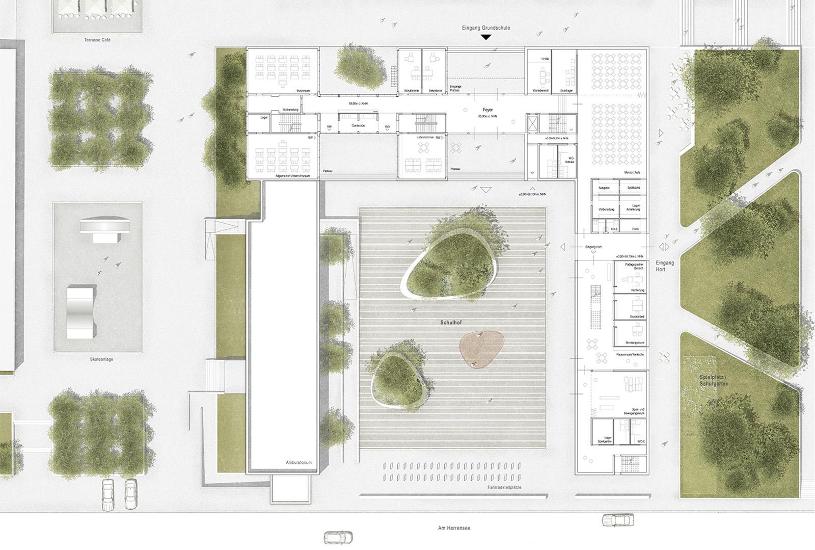 Grundschule Strausberg mit Sporthalle und Bürgerzentrum